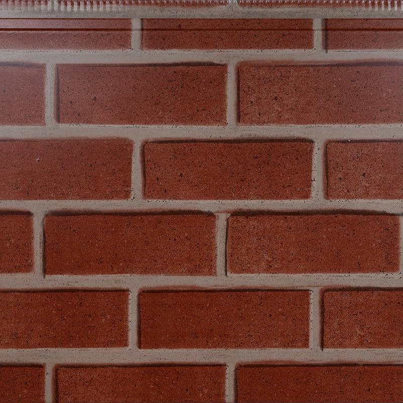 双色红砖金属雕花板
